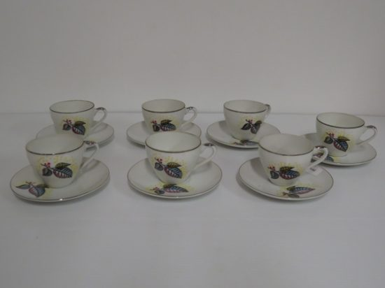 Lote: 107 - Lote: 107 - 7 tazas de café porcelana