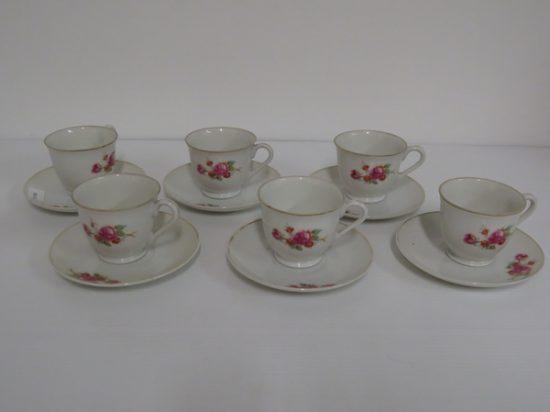 Lote: 108 - Lote: 108 - 6 tazas de cafe porcelana