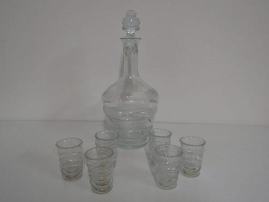 Lote: 105 - Lote: 105 - Botellón con 6 vasitos