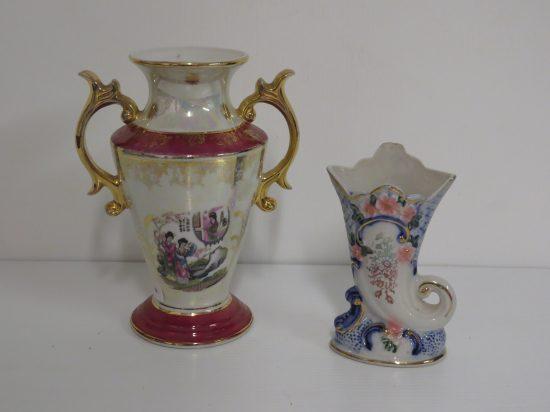Lote: 6 - Lote: 6 - Potiche y florero en cerámica
