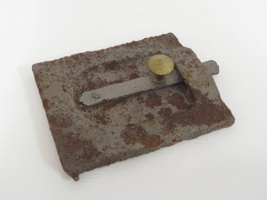 Lote: 15 - Lote: 15 - Antigua tapa de cocina de hierro