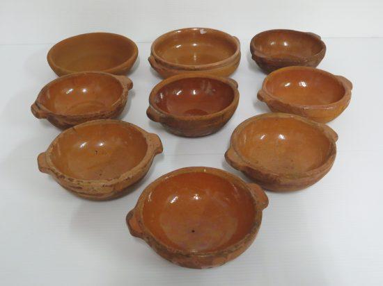 Lote: 9 - Lote: 9 - 9 Cazuelas de barro