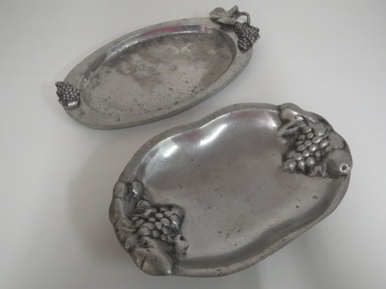 Lote: 109 - Lote: 109 - 2 fuentes oval en peltre