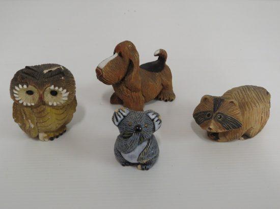 Lote: 2 - Lote: 2 - 4 miniaturas de cerámica figuras