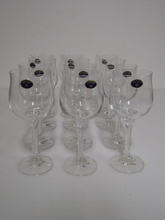 Lote: 86 - Lote: 86 - 12 Copas de cristal