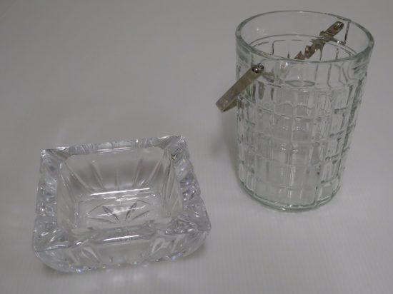 Lote: 3 - Lote: 3 - Hielera y cenicero en vidrio