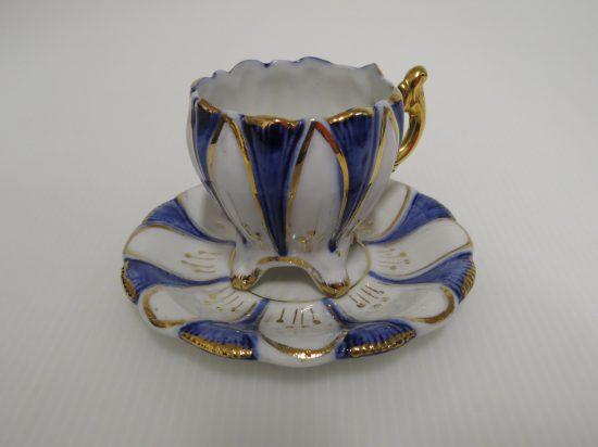 Lote: 7 - Lote: 7 - Taza y plato en porcelana