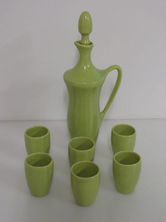 Lote: 97 - Lote: 97 - Juego de jarra con 6 vasos