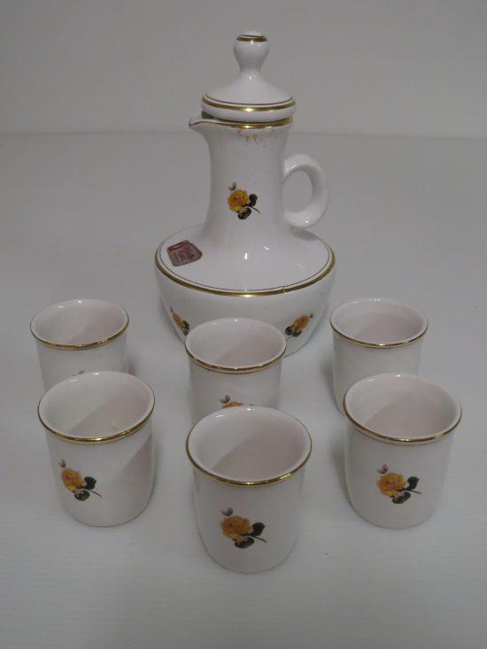 Lote: 99 - Lote: 99 - Lote de jarra y 6 vasos