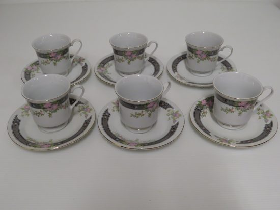 Lote: 95 - Lote: 95 - 6 tazas de té de loza