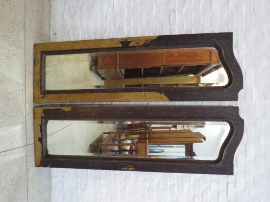 Lote: 46 - Lote: 46 - 2 puertas de ropero con espejos
