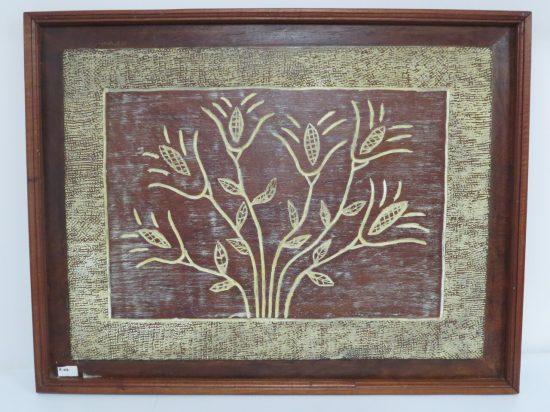 Lote: 51 - Lote: 51 - Cuadro tallado en madera