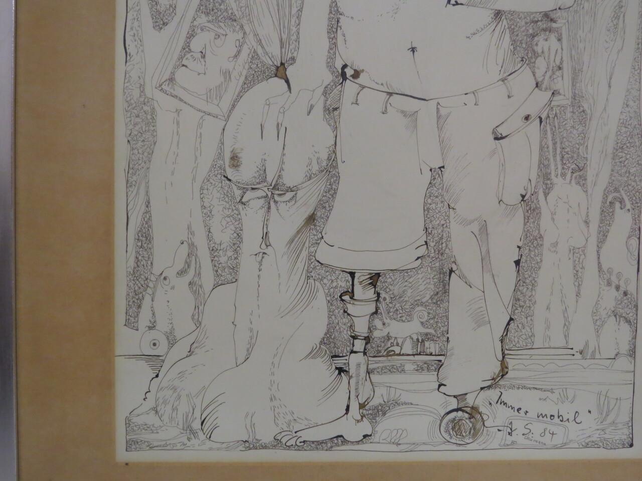Lote: 12 - Lote: 12 - Dibujo a tinta china