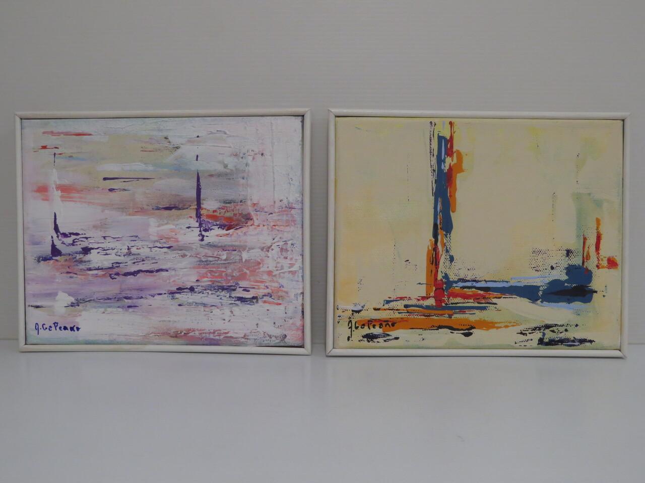 Lote: 28 - Lote: 28 - Serie de 2 pinturas sobre tela