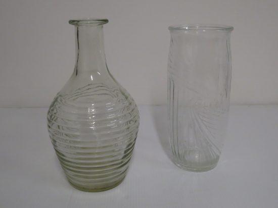 Lote: 17 - Lote: 17 - 2 floreros de vidrio antiguos