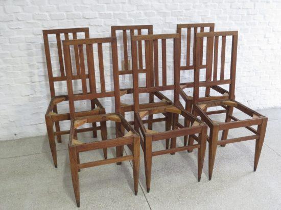 Lote: 46 - Lote: 46 - 6 sillas de roble
