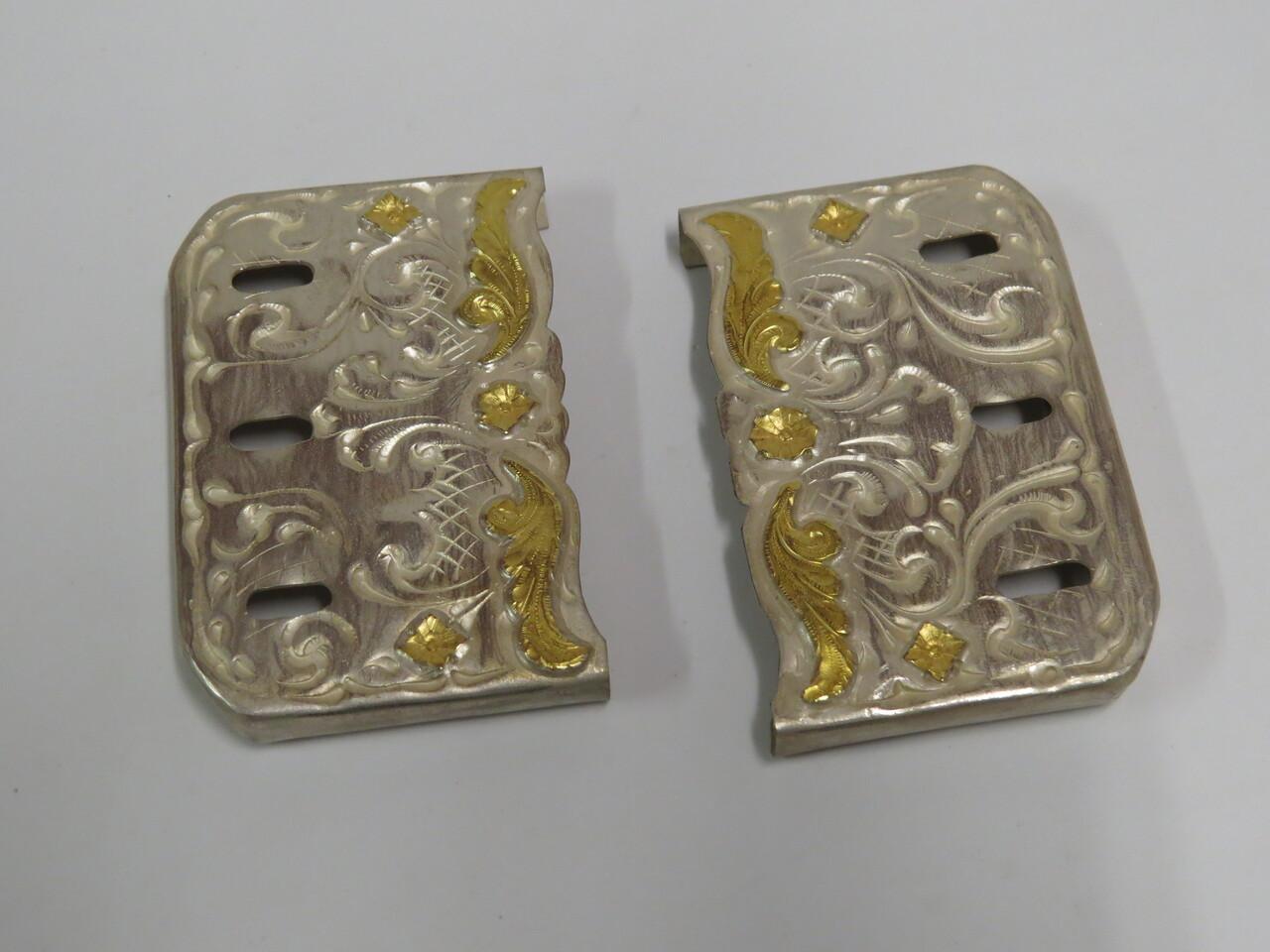 Lote: 69 - Lote: 69 - Puntera de rastras en plata y oro