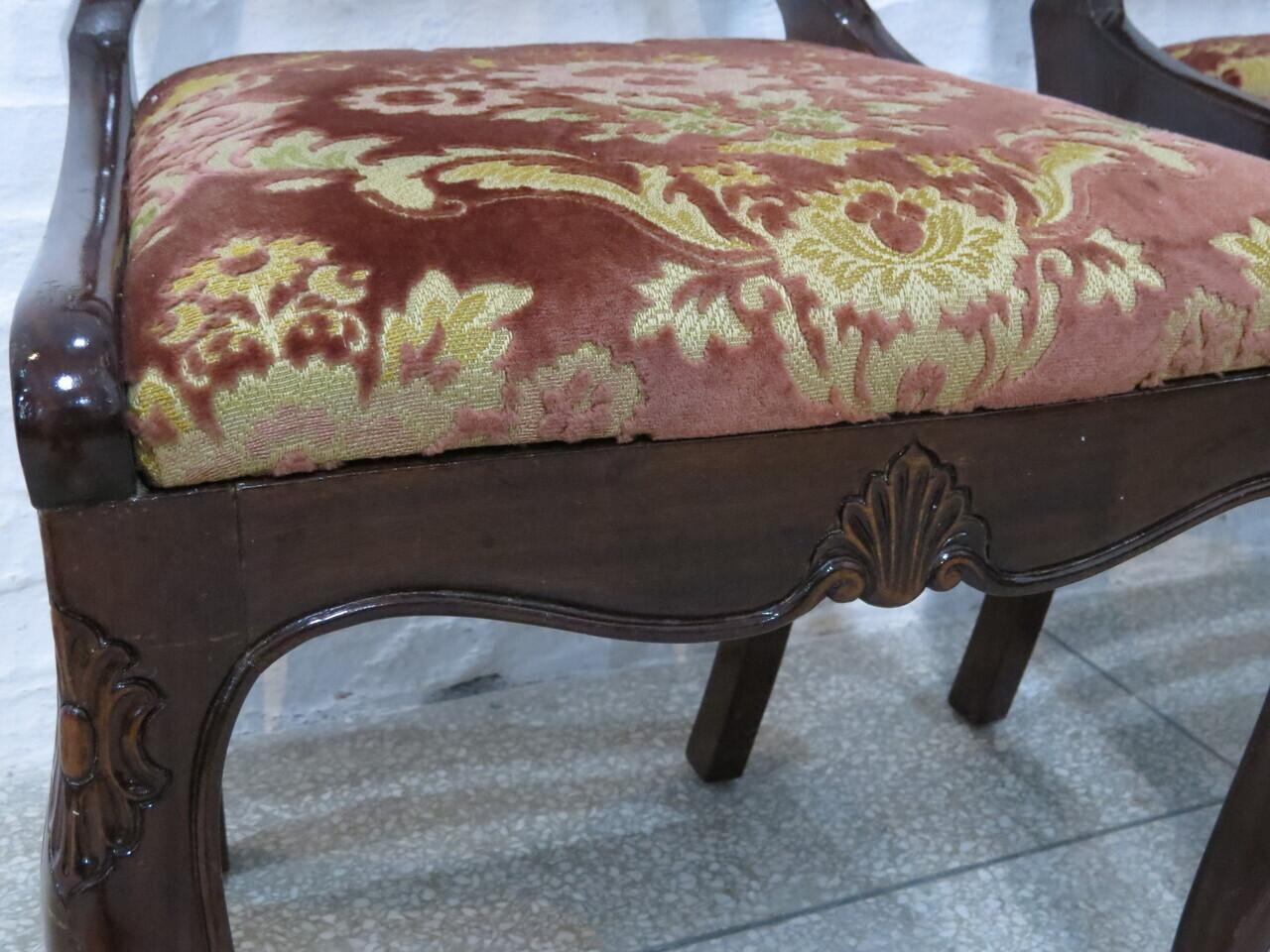 Lote: 88 - Lote: 88 - Par de sillas Luis XV