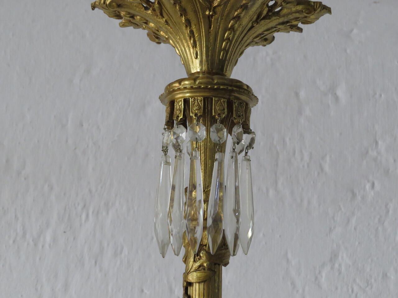 Lote: 88 - Lote: 88 - Araña francesa 6 hojas Luis XVI
