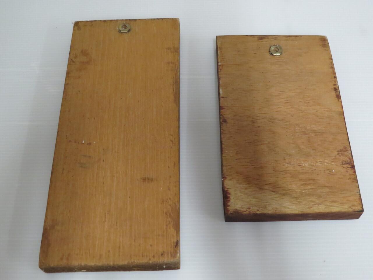Lote: 30 - Lote: 30 - 2 cuadros en madera