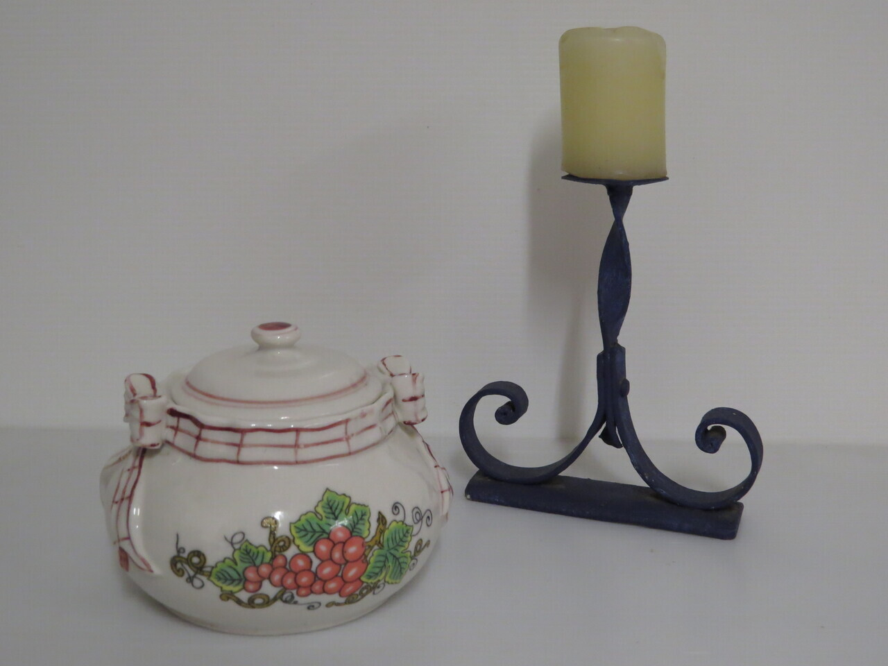 Lote: 20 - Lote: 20 - Porta vela y azucarero