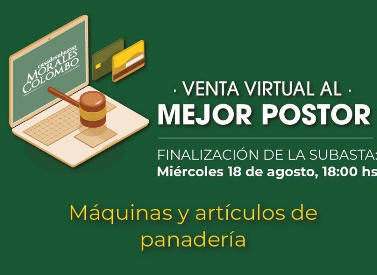 Venta virtual Agosto – Maquinas de Panadería