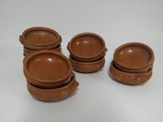 Lote: 11 - Lote: 11 - Cazuleas de cerámica